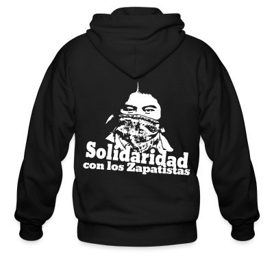 Sweat zippé Solidaridad con los Zapatistas