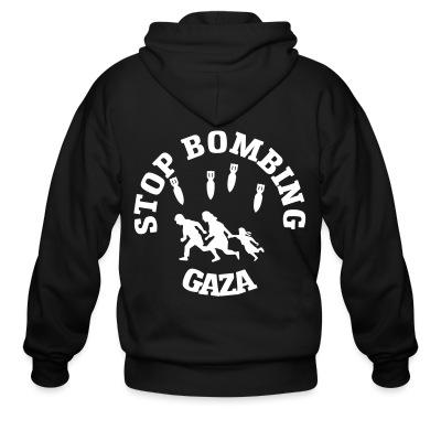 Sweat zippé Stop bombing Gaza