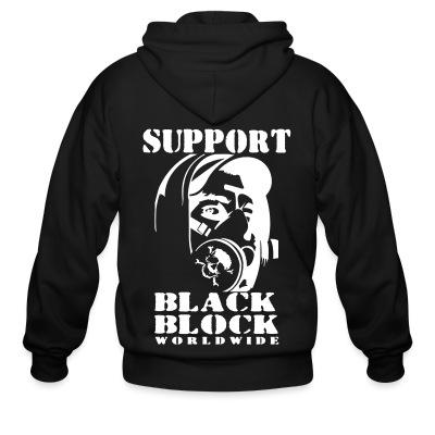 Sweat zippé Support black block worldwide