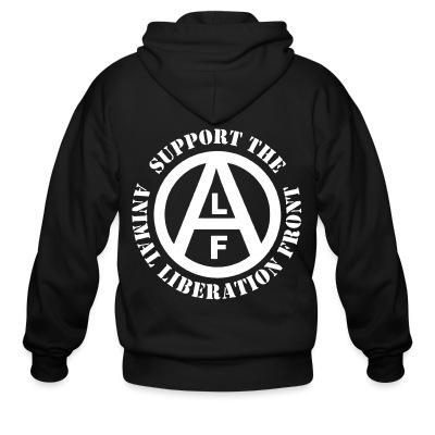 Sweat zippé Support the Animal Liberation Front (ALF)