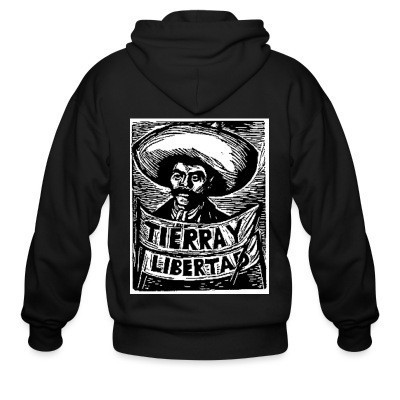 Sweat zippé Tierra y libertad