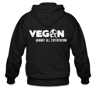 Sweat zippé Vegan against all exploitation