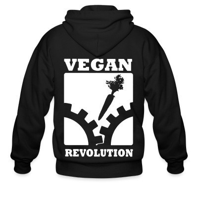 Sweat zippé Vegan revolution
