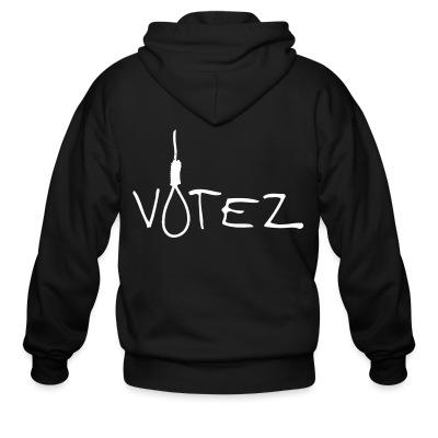 Sweat zippé Votez