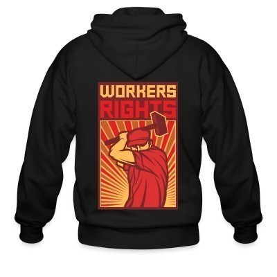Sweat zippé Workers rights
