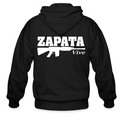 Sweat zippé Zapata vive