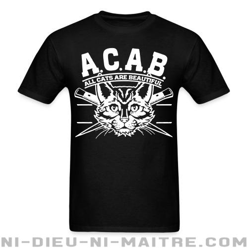 T-shirt standard unisexe A.C.A.B. All Cats Are Beautiful  - Vegan & Libération Animale