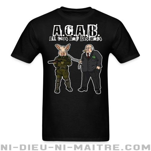 T-shirt ♂ A.C.A.B All Cops Are Bastards - ACAB & Abus policiers