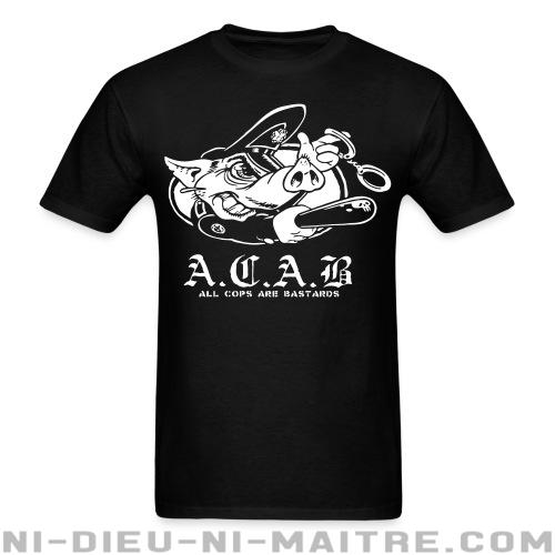 T-shirt standard unisexe A.C.A.B. All Cops Are Bastards - ACAB & abus policiers