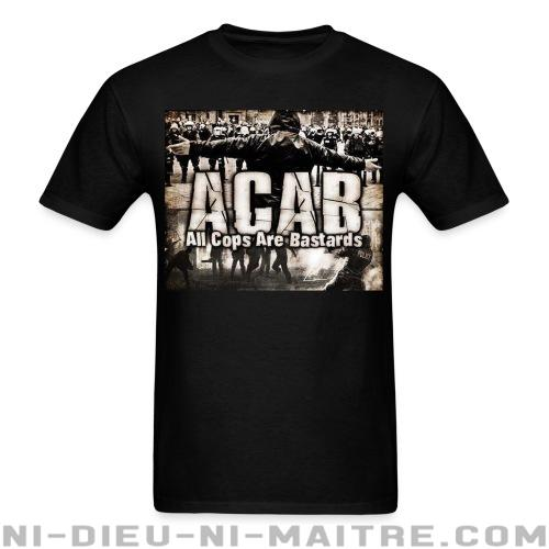 T-shirt standard unisexe ACAB All Cops Are Bastards - ACAB & abus policiers