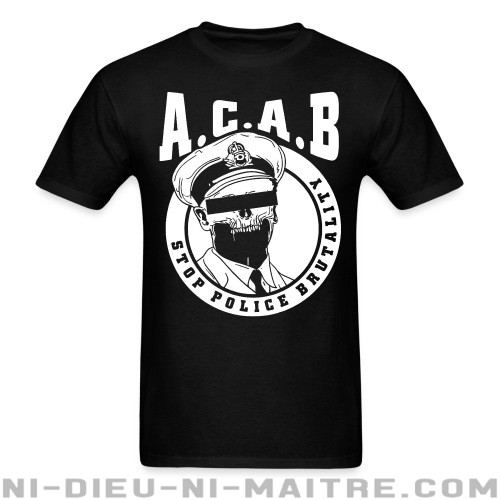 Acab / Stop police brutality  - T-shirt ACAB anti-violence-policiere