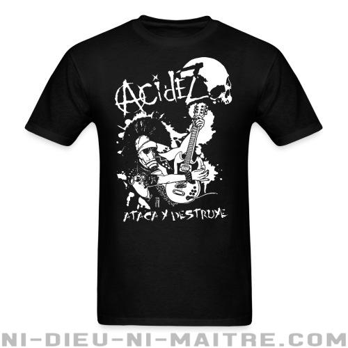 Acidez - ataca y destruye - T-shirt Band Merch