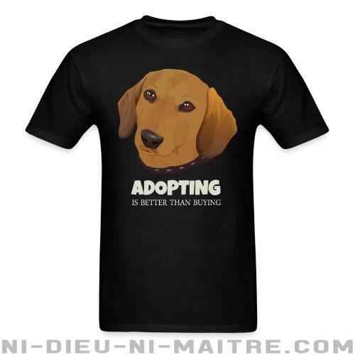 Adopting is better than buying - T-shirt véganes et libération animale