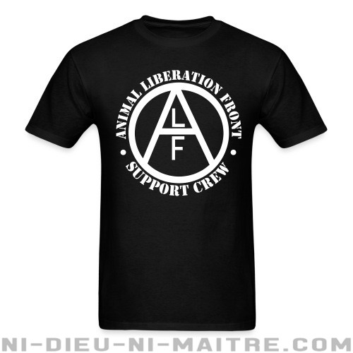 ALF Animal Liberation Front support crew  - T-shirt véganes et libération animale