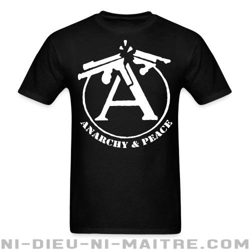 T-shirt standard unisexe Anarchy & peace - T-Shirts Militants