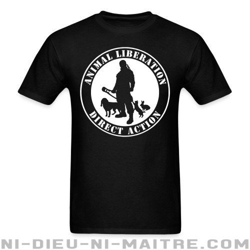 Animal liberation direct action - T-shirt véganes et libération animale