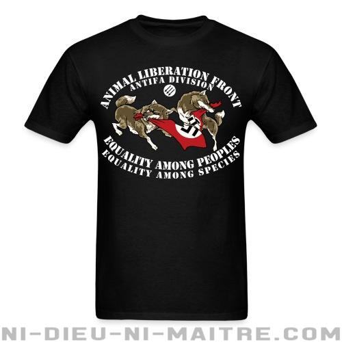 Animal Liberation Front antifa division - equality among peoples, equality among species - T-shirt véganes et libération animale