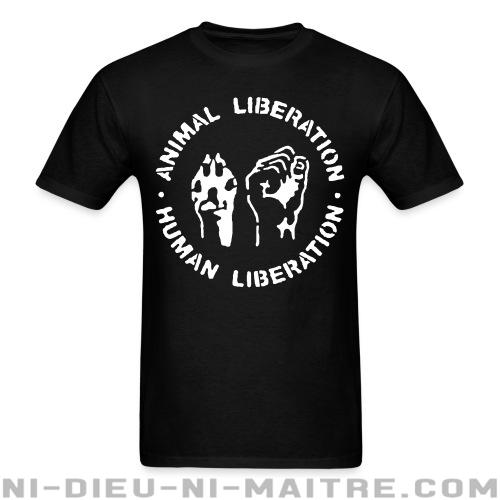 T-shirt ♂ Animal liberation - human liberation - Libération animale