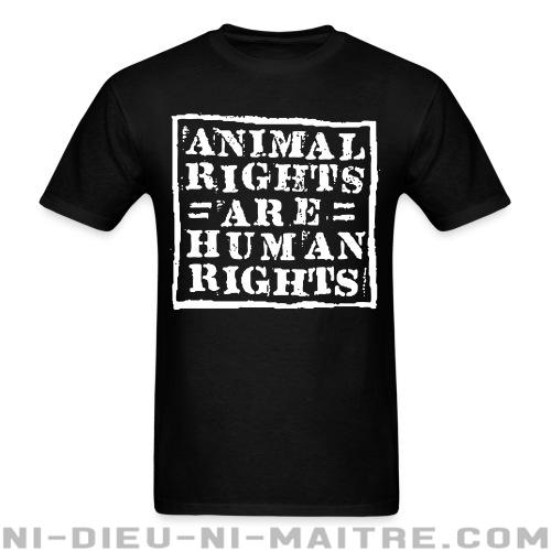 T-shirt standard unisexe Animal rights are human rights - Vegan & Libération Animale