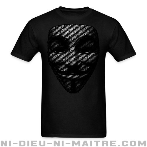 T-shirt Anonymous - T-shirt Anonymous