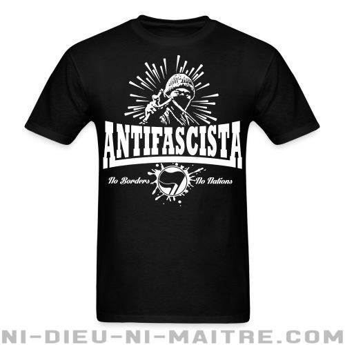 T-shirt ♂ Antifascista! No borders, no nations. - Antifa & Anti-racisme