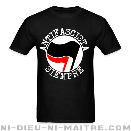 T-shirt ♂ Antifascista siempre - Antifa & Anti-racisme