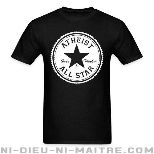 T-shirt standard unisexe Atheist all star - free thinker  - Athéisme