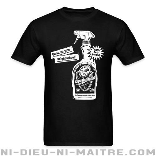 T-shirt ♂ Clean up your neighborhood! Antifa cleaning agent 100% anti-fascist - Antifa & Anti-racisme