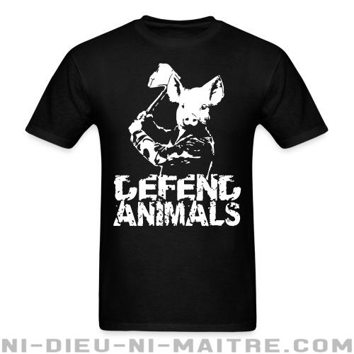 T-shirt standard unisexe Defend animals - Vegan & Libération Animale