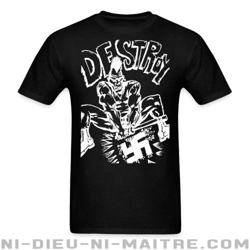 Destroy nazism - T-shirt Punk