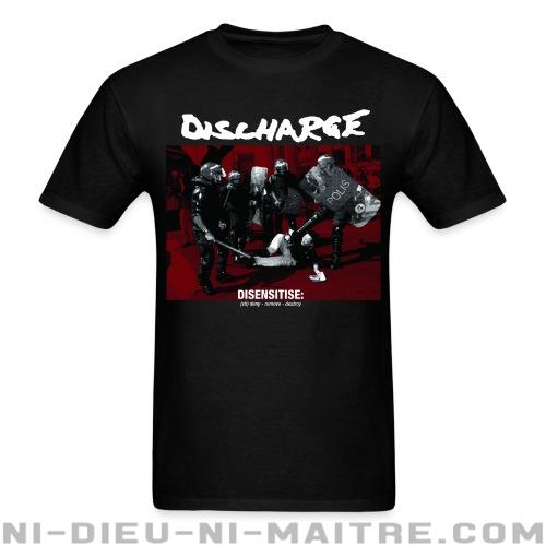 T-shirt standard unisexe Discharge - disensitise: (vb) deny - remove - destroy -
