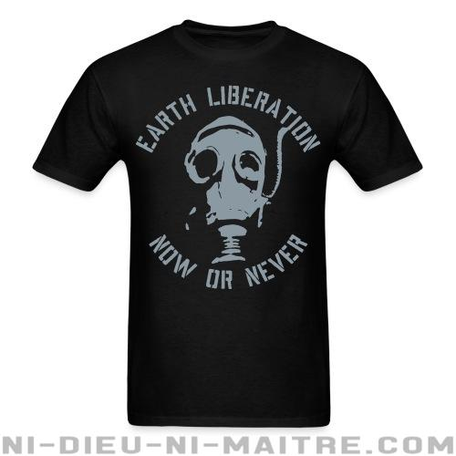 T-shirt standard unisexe Earth liberation - now or never - Environnement & écologie