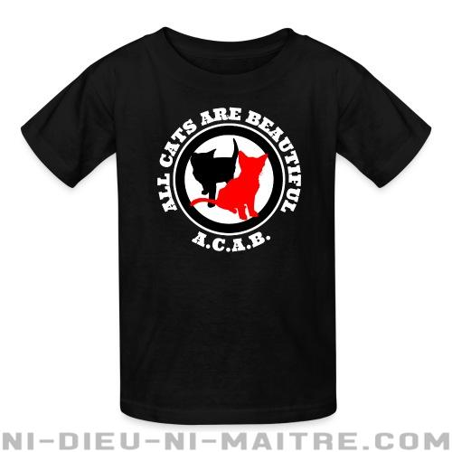 T-shirt enfant A.C.A.B. All Cats Are Beautiful - Vegan & Libération Animale