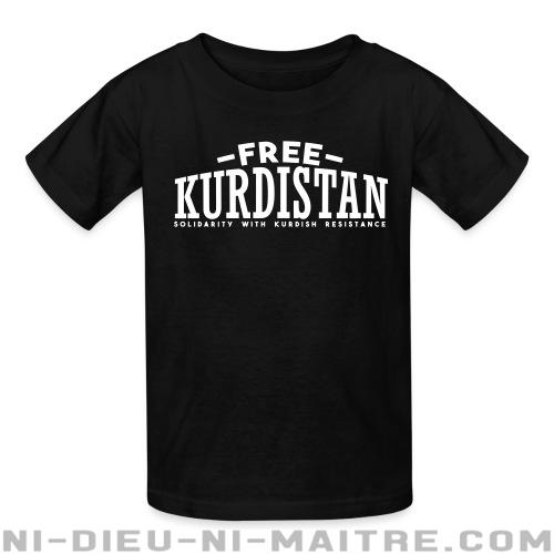 Free Kurdistan! Solidarity with kurdish resistance - T-shirts pour enfant Rojava