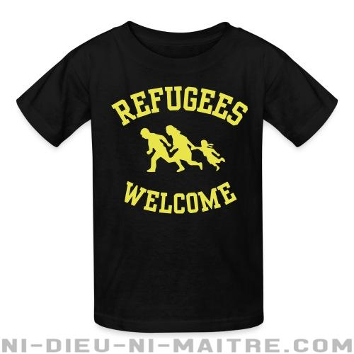 Refugees welcome - T-shirts pour enfant Anti-Fasciste