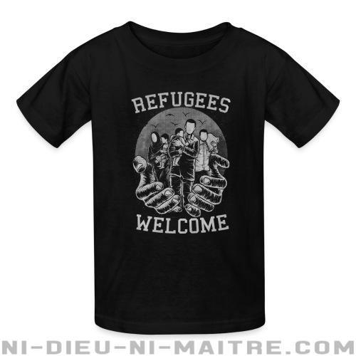 Refugees Welcome - T-shirts pour enfant anti-guerre
