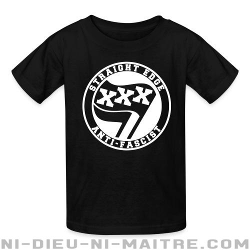 Straight edge anti-fascist - T-shirts pour enfant Anti-Fasciste