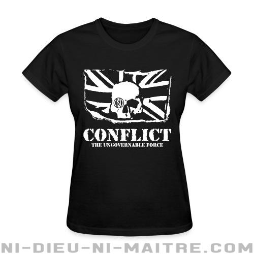 T-shirt féminin Conflict - The ungovernable force - Punk & marginaux
