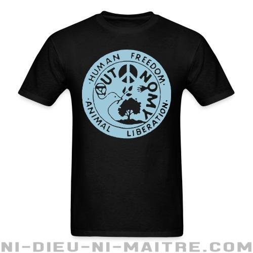 T-shirt standard unisexe Human freedom - animal liberation - autonomy - Vegan & Libération Animale