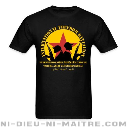 T-shirt standard unisexe International freedom battalion - Rojava Kurdistan