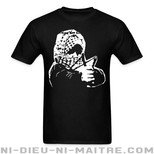 Intifada Slingshot - T-shirt anti-guerre