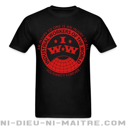 T-shirt avec impression au dos IWW - Industrial Workers of the World - an injury to one is an injury to all - solidarity forever - Working class