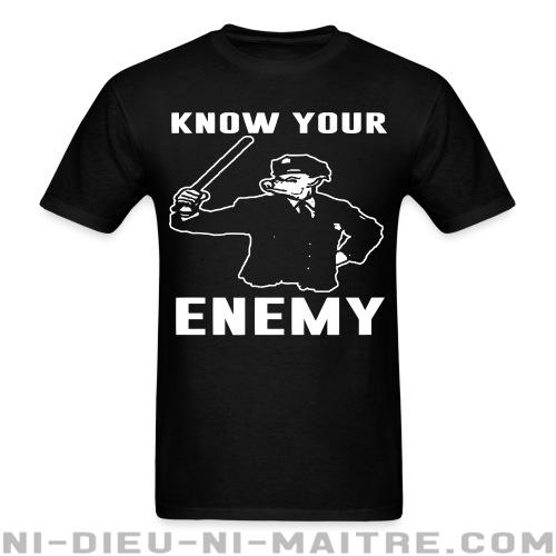 T-shirt ♂ Know your enemy - ACAB & Abus policiers