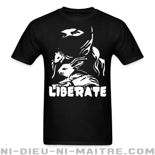 T-shirt standard unisexe Liberate - Vegan & Libération Animale