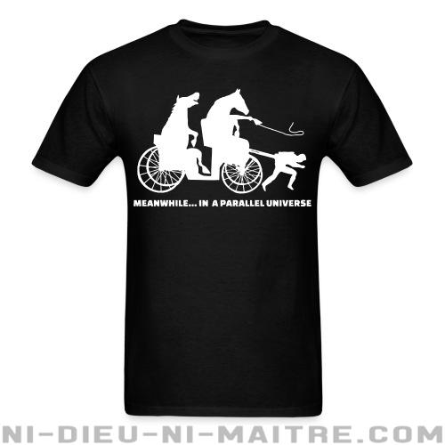 T-shirt standard unisexe Meanwhile... in a parallel universe - Vegan & Libération Animale