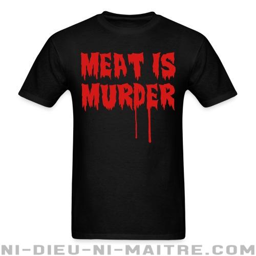 77d3f671978f5 Meat Is Murder ☆ T-Shirt Libération Animale ☆ Ni-Dieu-Ni-Maitre.com