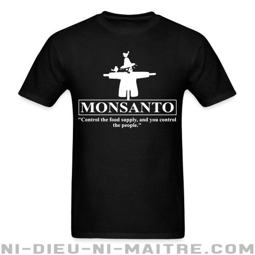 "Monsanto ""Control the food supply, and you control the people"" - T-shirt Environnementaliste"