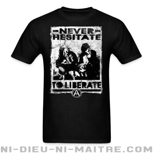 T-shirt standard (unisexe) Never hesitate to liberate - Libération animale