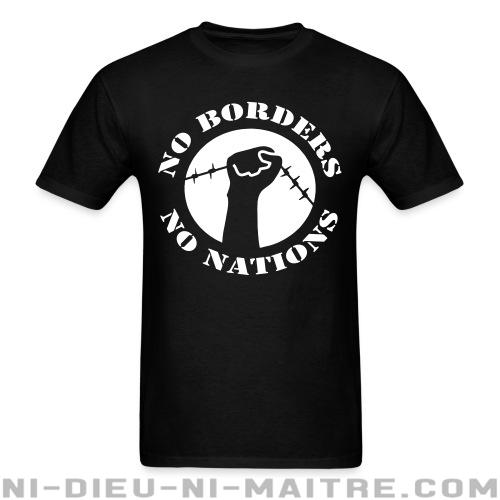 T-shirt standard unisexe No borders no nations - T-Shirts Militants