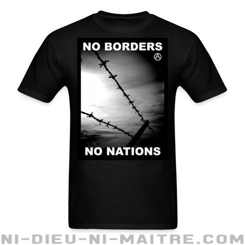 T-shirt standard (unisexe) No borders no nations - Politique & révolution